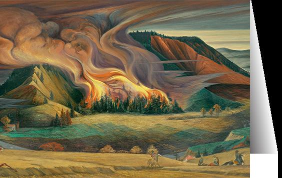 Forest Fire by Frank Mechau