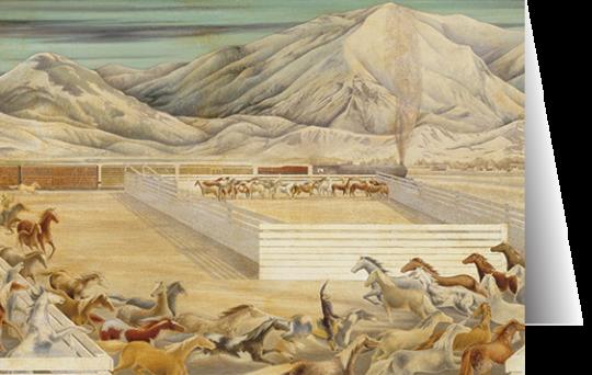 Last of the Wild Horses by Frank Mechau