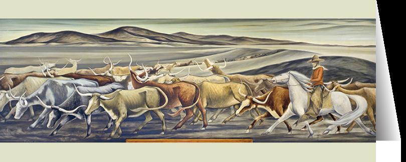 Longhorns by Frank Mechau