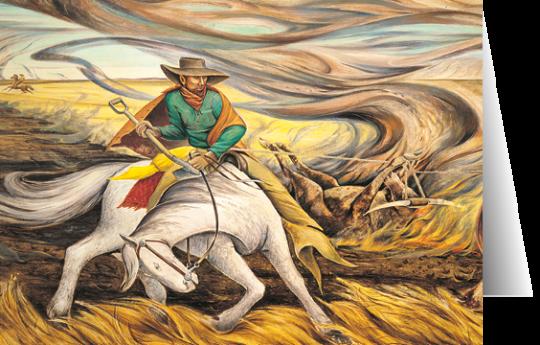 Fighting a Prairie Fire by Frank Mechau